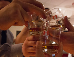 Shots of Whiskey donated by Sawridge Inn