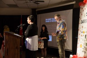 Barb and Gord Drummond receiving the Henry Fully Davis Award of Selflessness presented by DMI