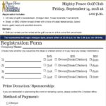 Golf Tournament Registration Form