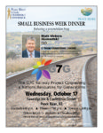 poster for Small Business Week Dinner
