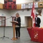 President Shelly Sorensen presenting Scholarship Glenmary