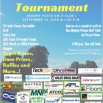 Golf Tournament Poster with Sponsors